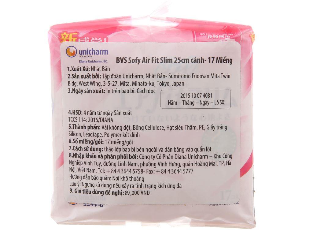 Băng vệ sinh Sofy Air Fit Slim siêu mỏng có cánh 17 miếng 4