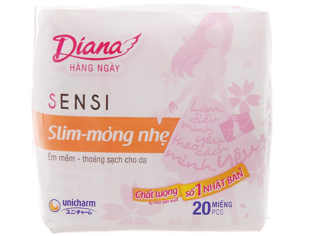Băng vệ sinh hàng ngày Diana Sensi Slim mỏng nhẹ 20 miếng 2