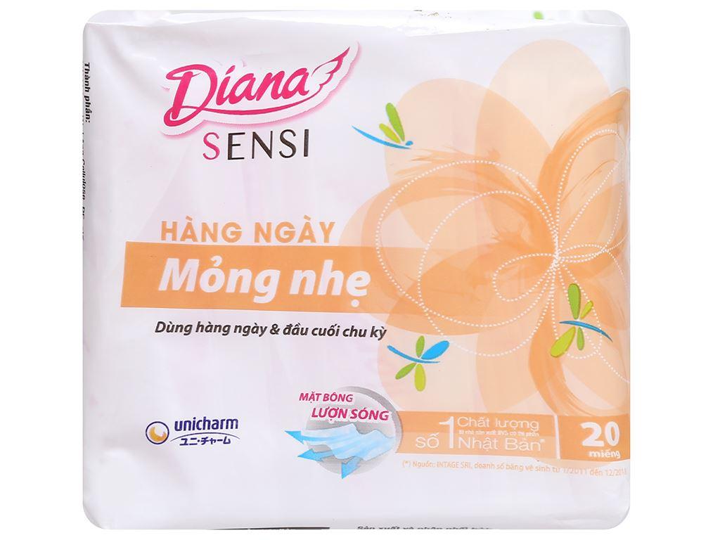 Băng vệ sinh hàng ngày Diana Sensi Slim mỏng nhẹ 20 miếng 6