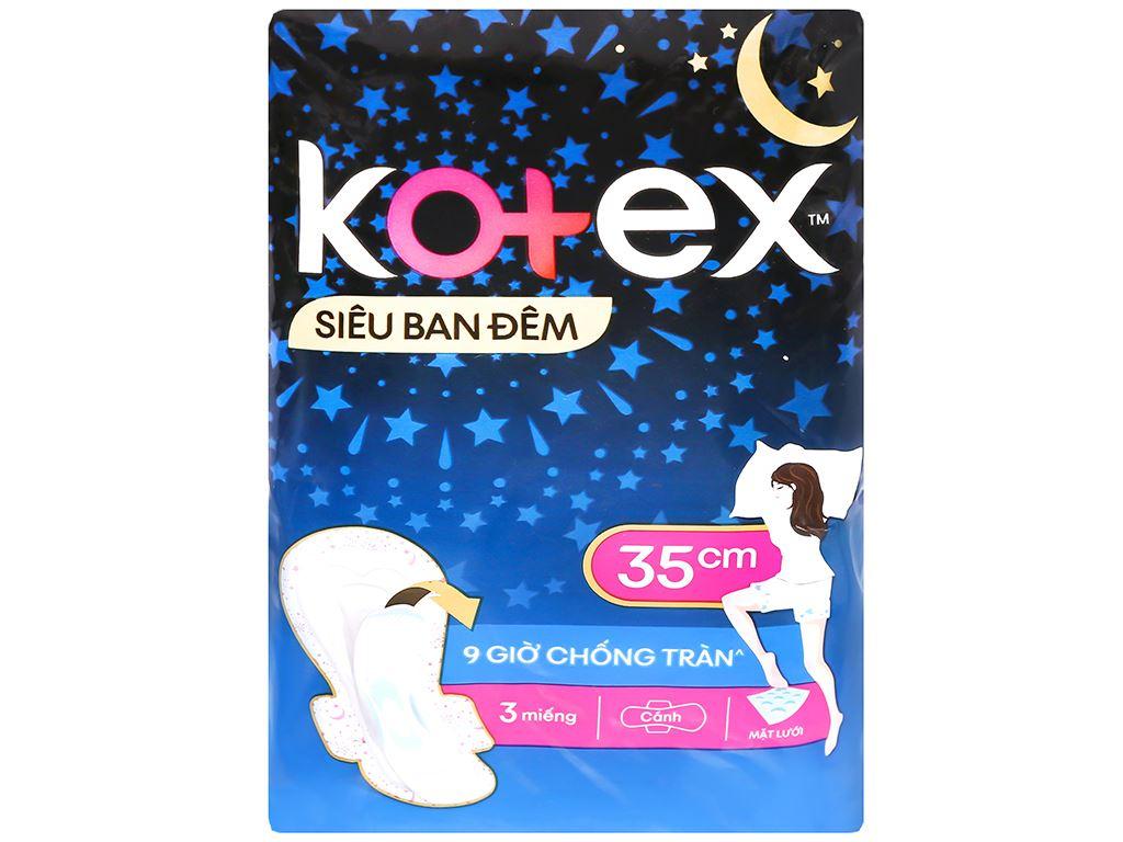 Băng vệ sinh ban đêm Kotex Style chống tràn 3 miếng 6