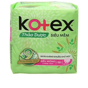 Băng vệ sinh Kotex thảo dược siêu mềm siêu mỏng cánh 8 miếng