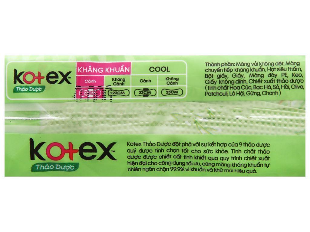 Băng vệ sinh Kotex thảo dược siêu mềm siêu mỏng cánh 8 miếng 8