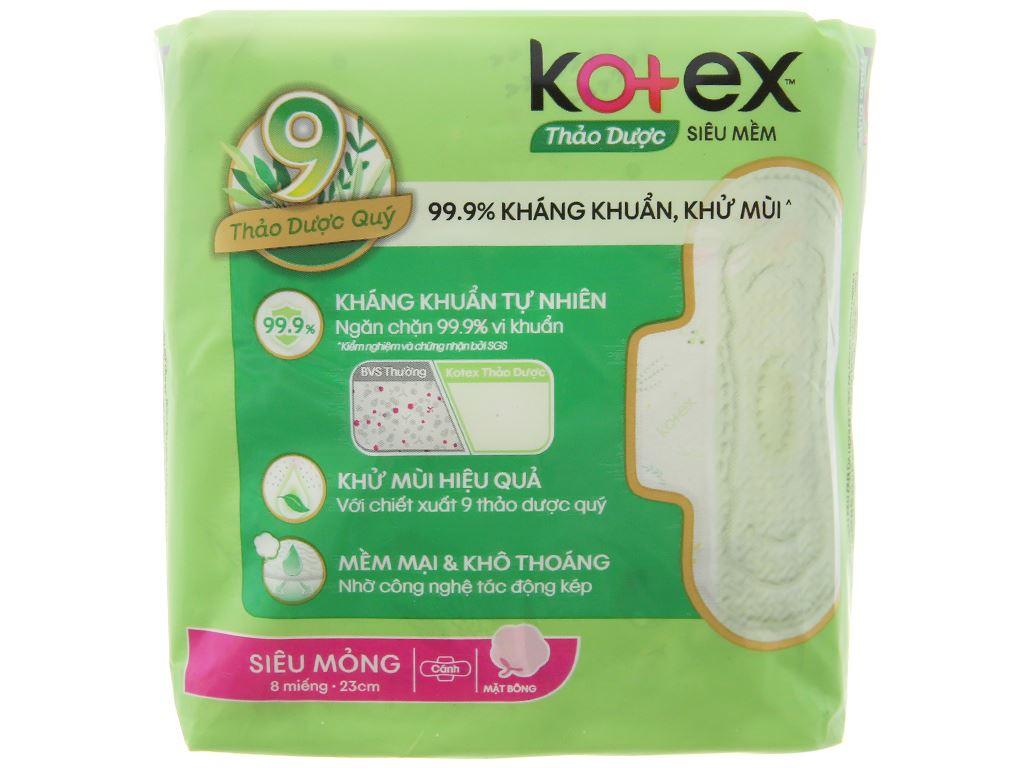Băng vệ sinh Kotex thảo dược siêu mềm siêu mỏng cánh 8 miếng 7