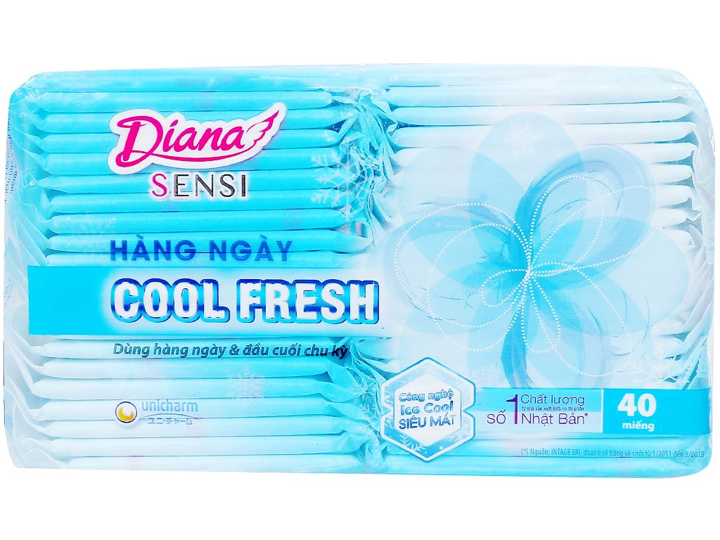 Băng vệ sinh hàng ngày Diana Sensi Cool Fresh 40 miếng 1