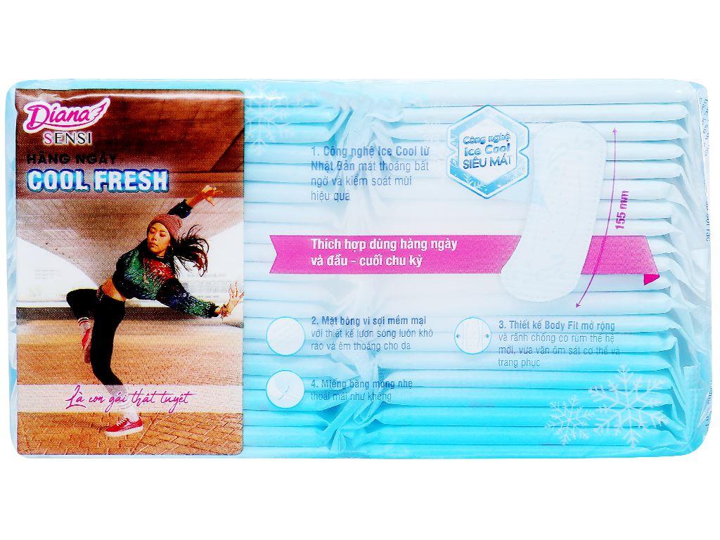 Băng vệ sinh hàng ngày Diana Sensi Cool Fresh 40 miếng 2