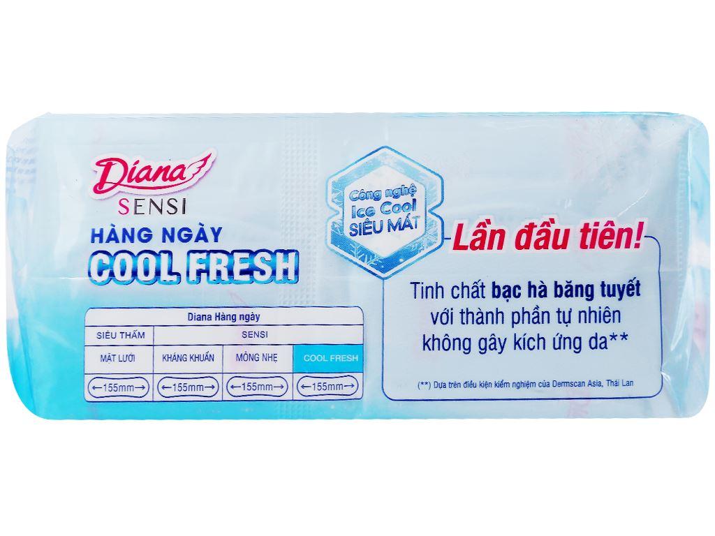 Băng vệ sinh hàng ngày Diana Sensi Cool Fresh 40 miếng 3