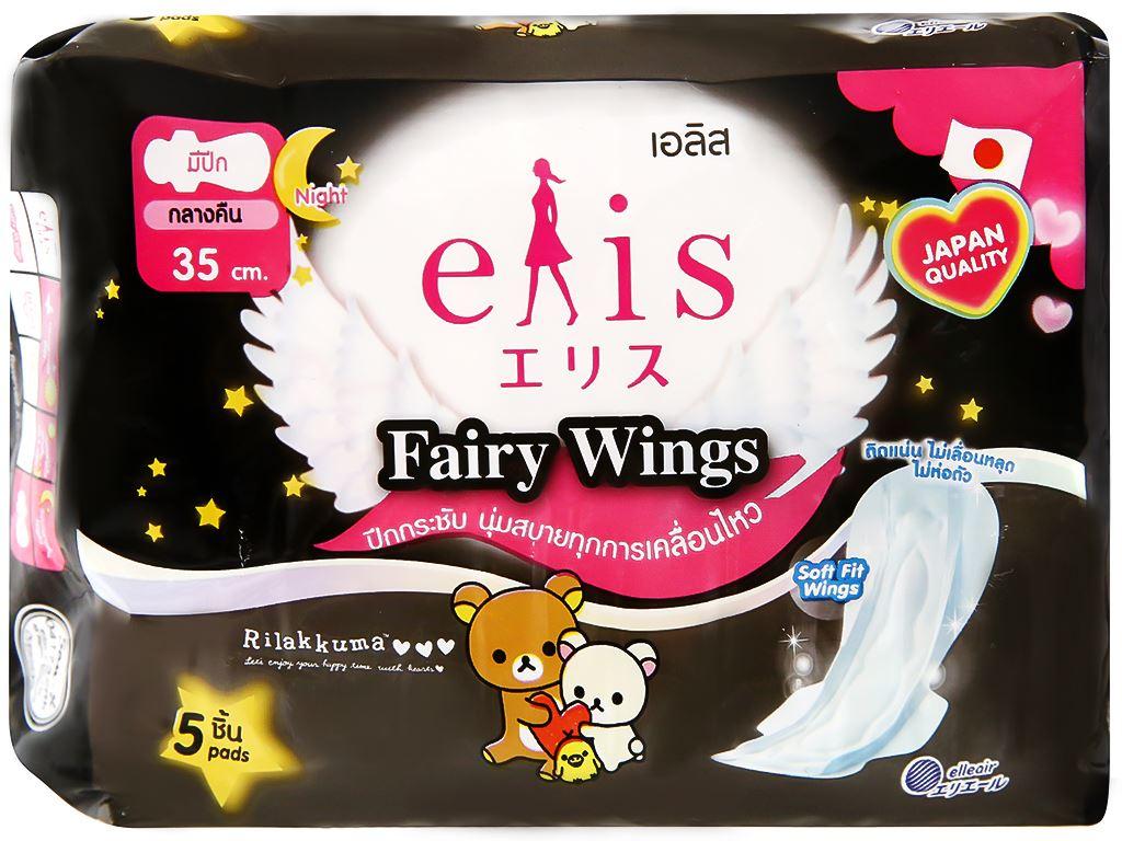 Băng vệ sinh ban đêm Elis Fairy Wings siêu thấm 5 miếng 9