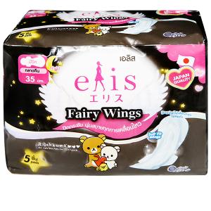 Băng vệ sinh ban đêm Elis Fairy Wings siêu thấm 5 miếng