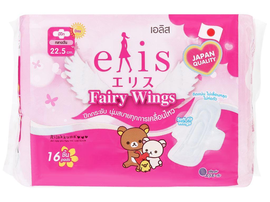 Băng vệ sinh Elis Fairy Wings siêu thấm có cánh 16 miếng 22.5cm 9