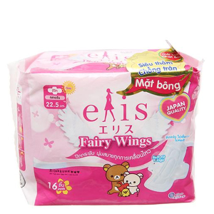 Băng vệ sinh Elis Fairy Wings siêu thấm chống tràn có cánh 16 miếng