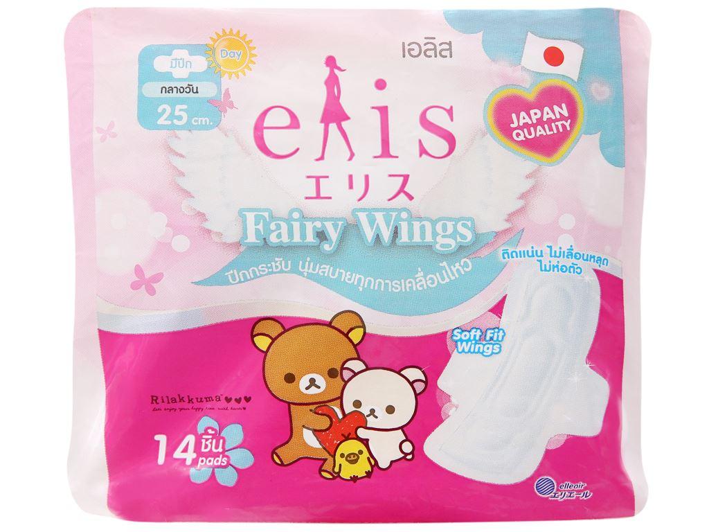 Băng vệ sinh Elis Fairy Wings siêu thấm có cánh 14 miếng 25cm 5