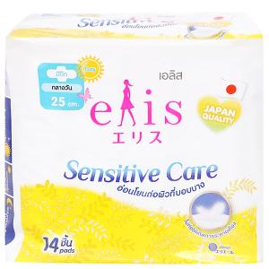 Băng vệ sinh Elis Sensitive Care siêu mềm chống tràn có cánh 14 miếng