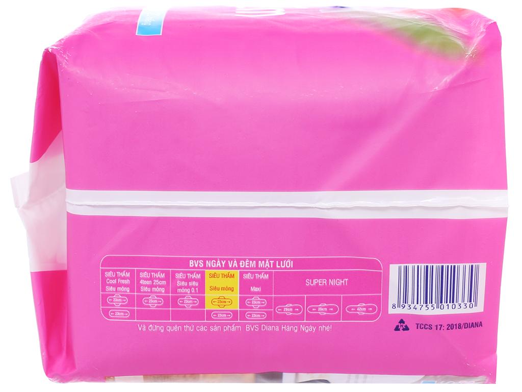 Băng vệ sinh Diana siêu thấm siêu mỏng cánh 20 miếng 3