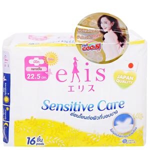 Băng vệ sinh Elis Sensitive Care siêu mềm chống tràn có cánh 16 miếng