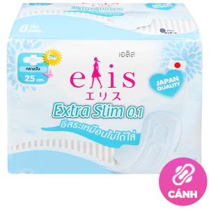 Băng vệ sinh Elis Extra Slim 0.1 siêu mỏng cánh 8 miếng 25cm