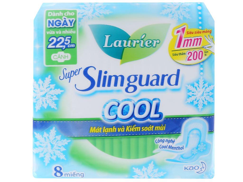 Băng vệ sinh Laurier Super Slimguard Cool siêu siêu mỏng có cánh 8 miếng 1