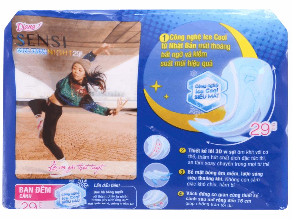 Băng vệ sinh ban đêm Diana Sensi Cool Fresh 4 miếng 3