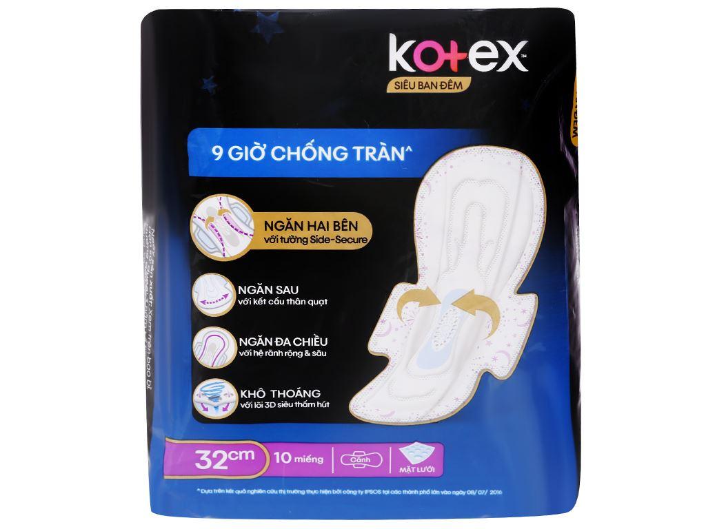 Băng vệ sinh ban đêm Kotex Style khô thoáng 10 miếng 32cm 2