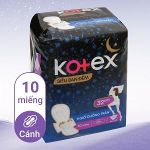 Băng vệ sinh ban đêm Kotex Style khô thoáng 10 miếng 32cm