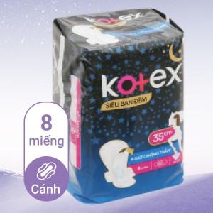 Băng vệ sinh ban đêm Kotex Style chống tràn 8 miếng