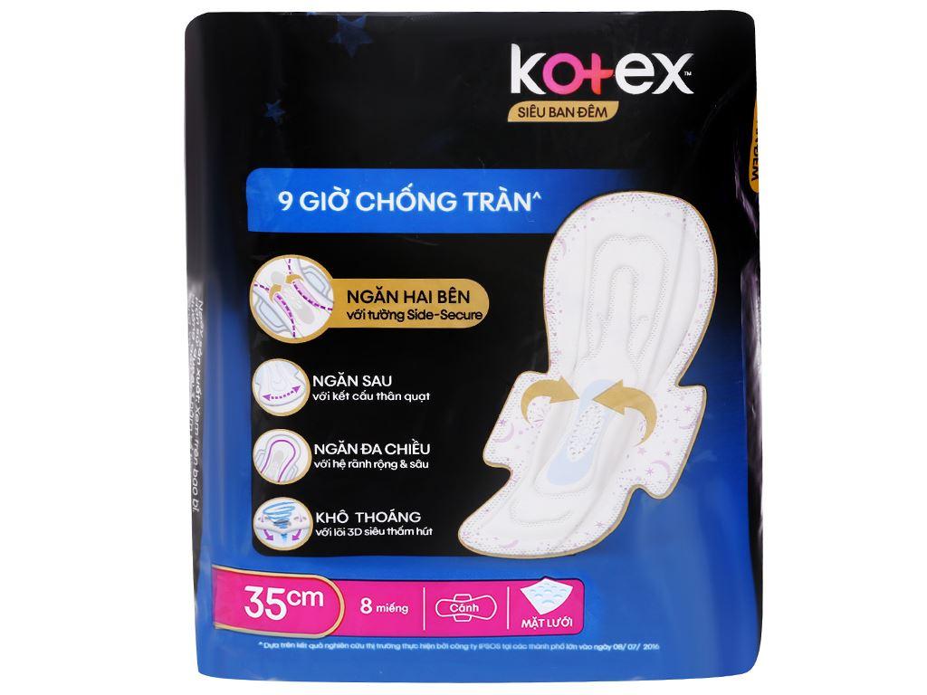 Băng vệ sinh ban đêm Kotex Style chống tràn 8 miếng 2