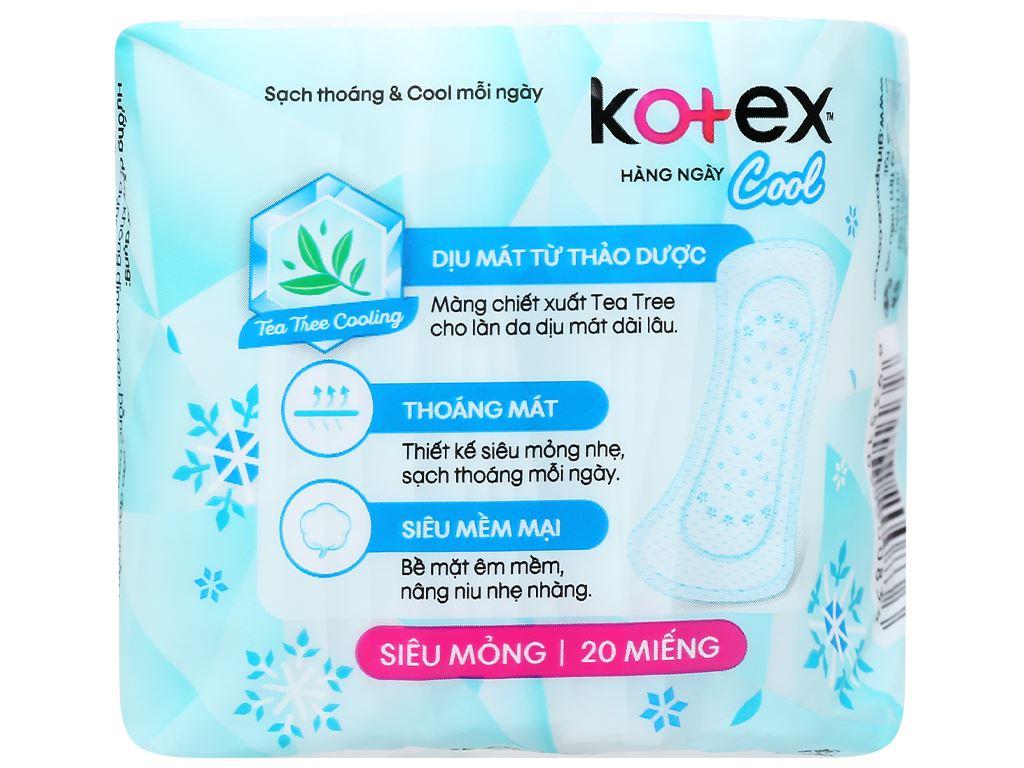 Băng vệ sinh hàng ngày Kotex Cool siêu mỏng 20 miếng 2