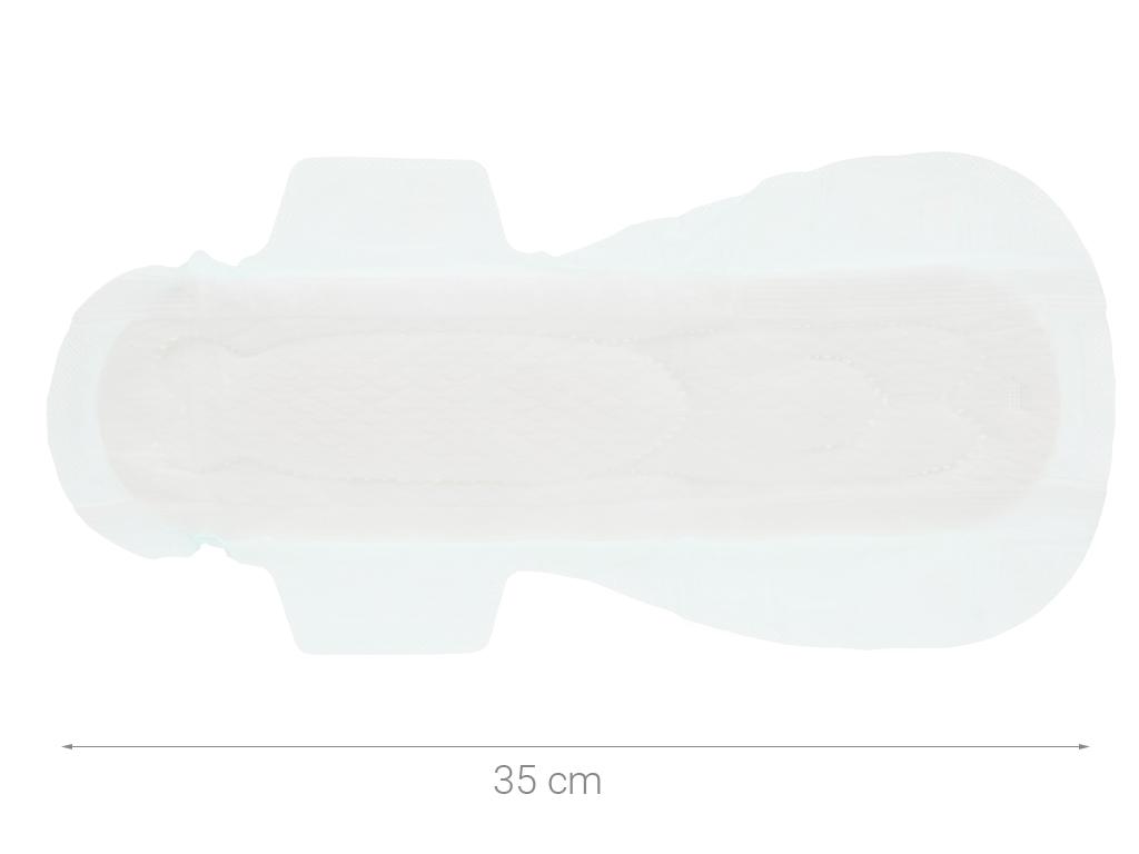 Băng vệ sinh ban đêm Laurier Safety Night siêu an toàn 4 miếng 35cm 8