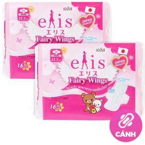 Combo 2 gói băng vệ sinh Elis Fairy Wings siêu thấm 16 miếng 22.5cm