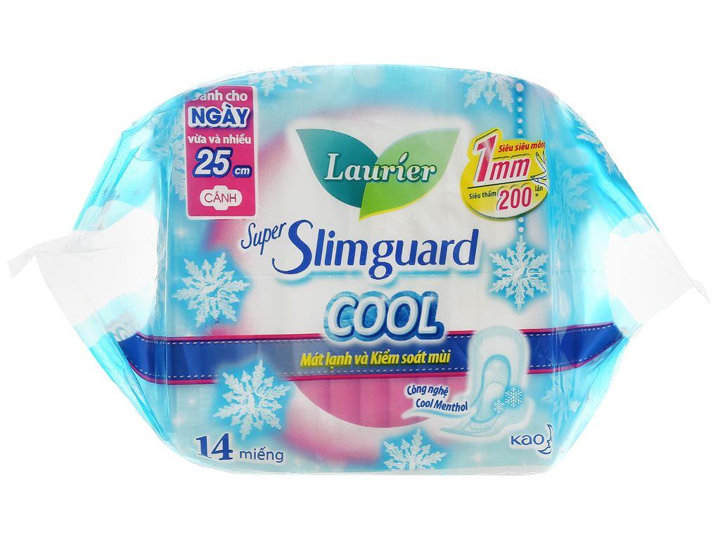 Băng vệ sinh Laurier Super Slimguard Cool 14 miếng 25cm 3