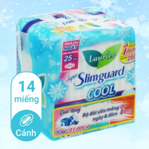 Băng vệ sinh Laurier Super Slimguard Cool 14 miếng 25cm