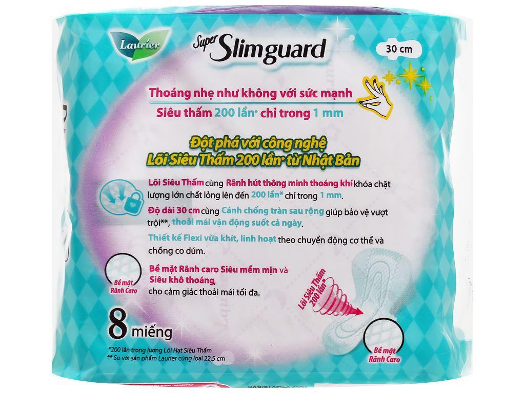 Laurier Super Slimguard 8 miếng 30cm 2