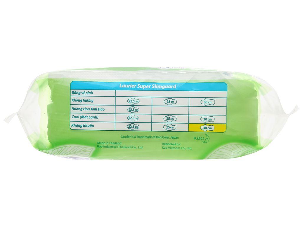 Băng vệ sinh Laurier Super Slimguard kháng khuẩn có cánh 6 miếng 30cm 4