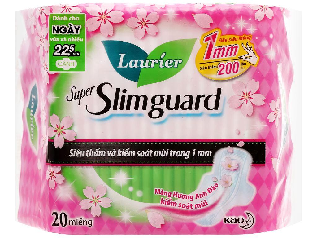 Laurier Super Slimguard hoa anh đào 20 miếng 22.5cm 1