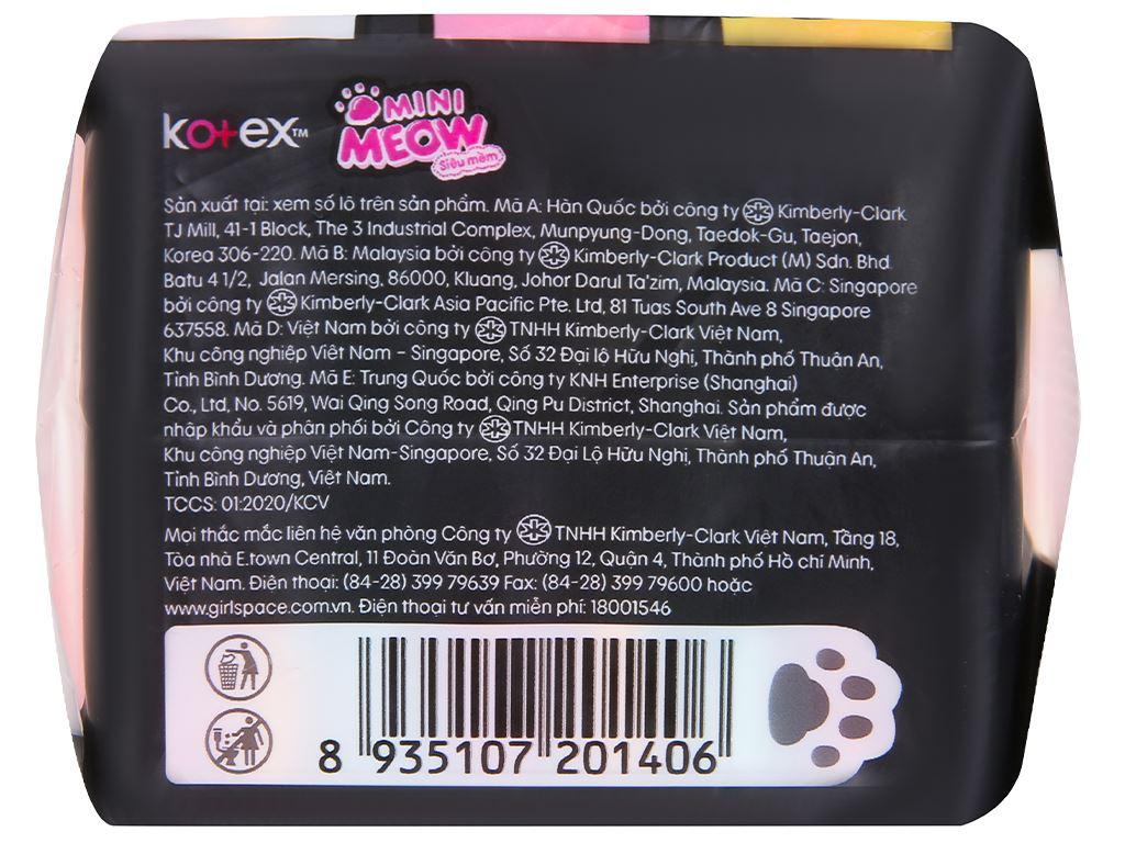 Băng vệ sinh, tampon Kotex Mini Meow siêu mềm 8 miếng 4