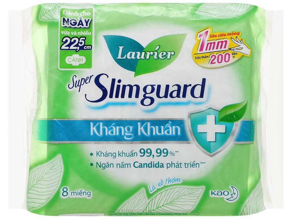 Băng vệ sinh Laurier Super Slimguard kháng khuẩn siêu siêu mỏng 8 miếng 1