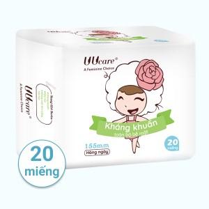 Băng vệ sinh hàng ngày Uucare Young Girl kháng khuẩn 20 miếng 15.5cm