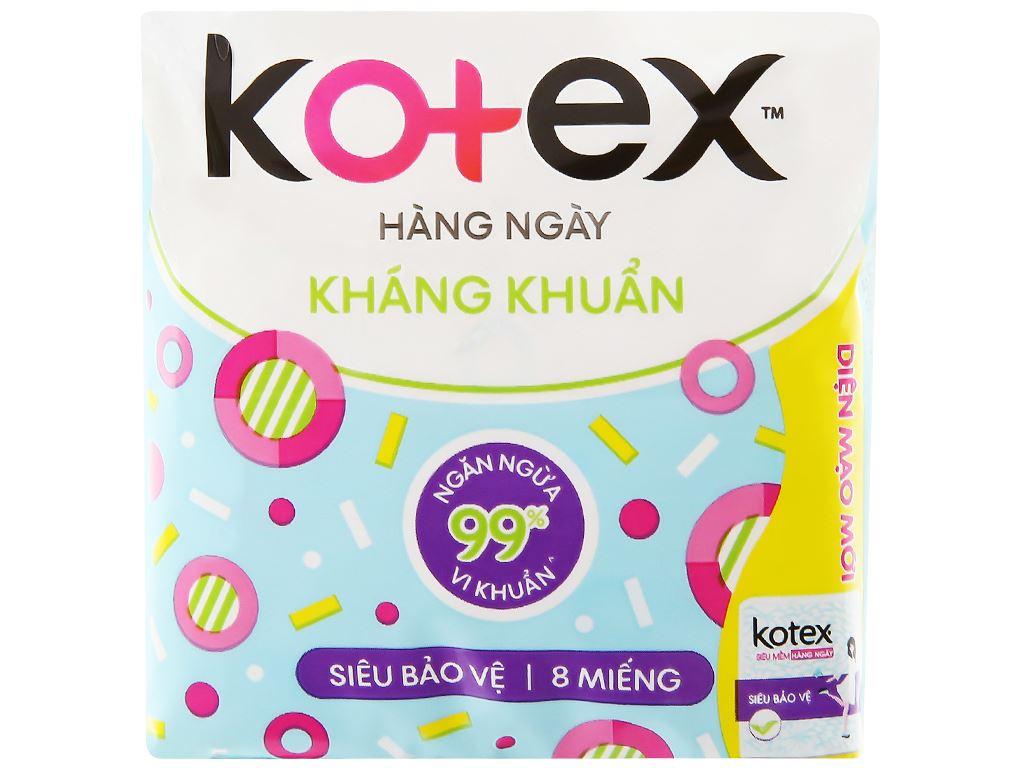 Băng vệ sinh hàng ngày Kotex siêu mềm siêu bảo vệ 8 miếng 6
