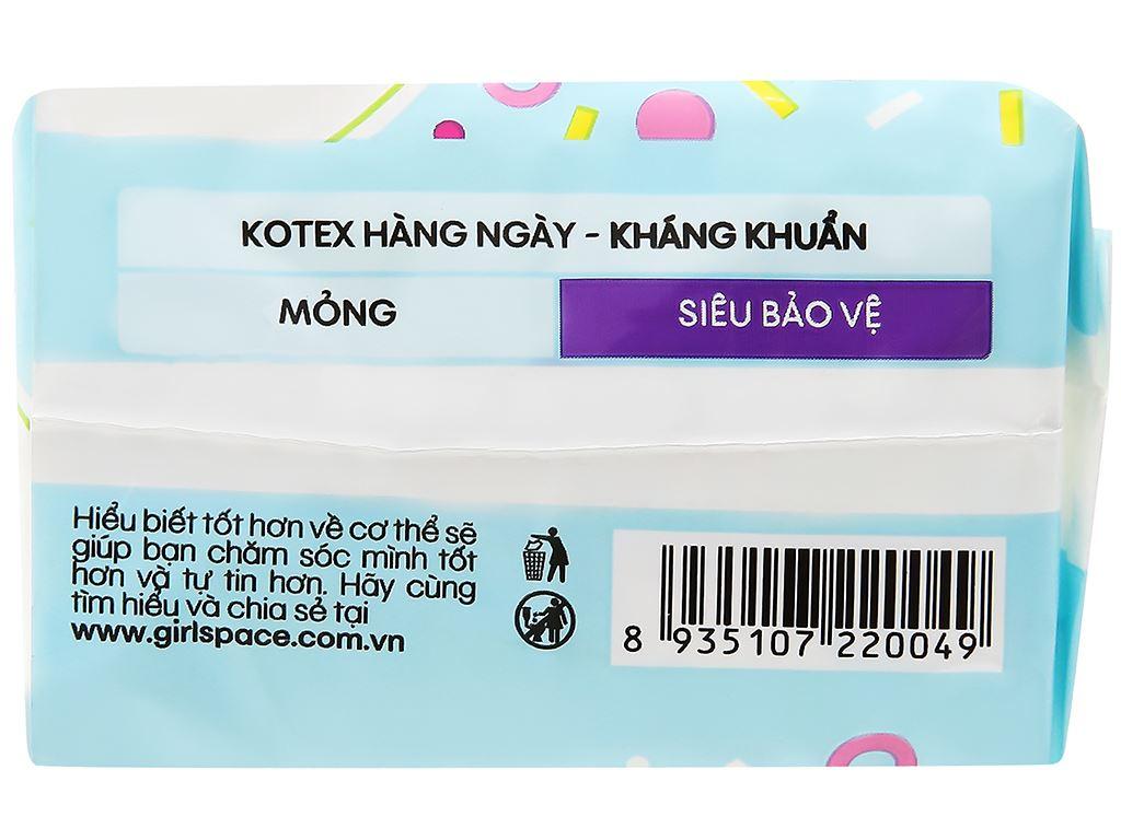 Băng vệ sinh hàng ngày Kotex siêu mềm siêu bảo vệ 8 miếng 8