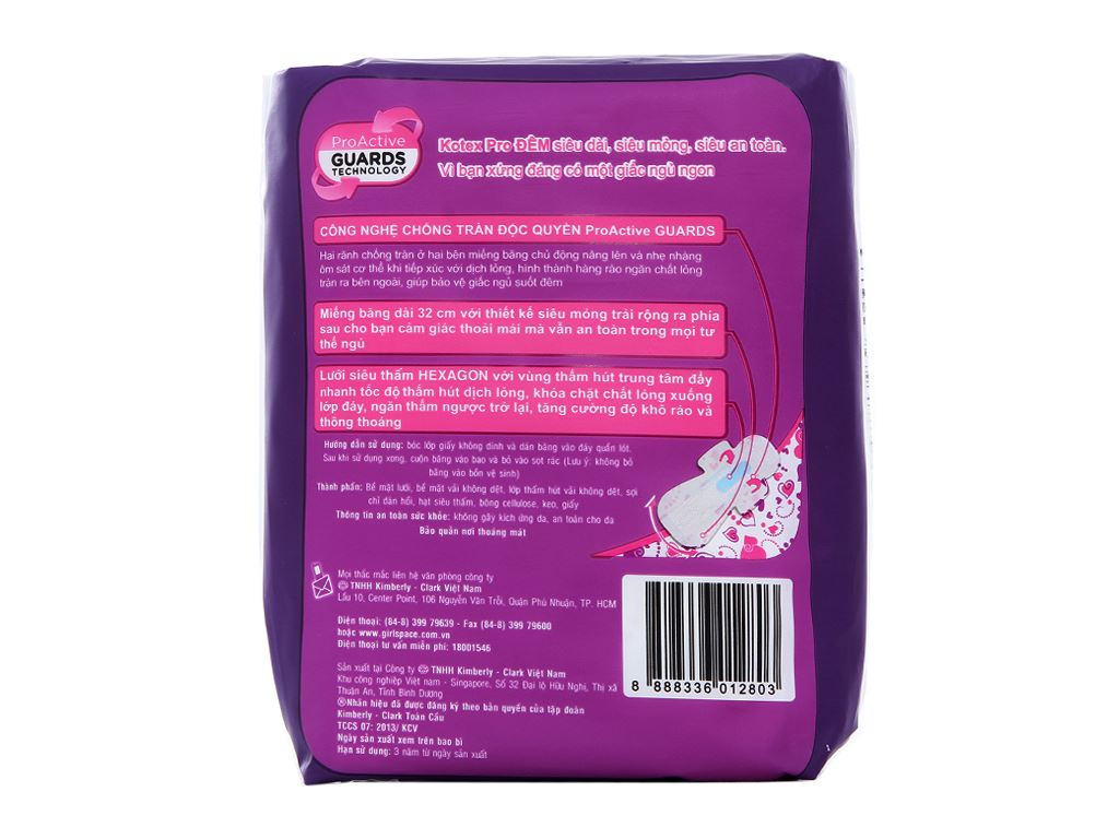 Băng vệ sinh ban đêm Kotex Pro 3 miếng 2