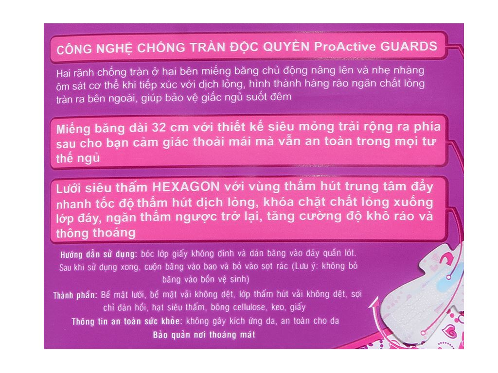 Băng vệ sinh ban đêm Kotex Pro 3 miếng 3