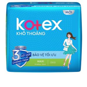Băng vệ sinh Kotex khô thoáng Maxi không cánh 8 miếng