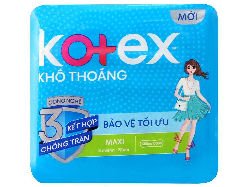 Băng vệ sinh Kotex khô thoáng Maxi không cánh 8 miếng 6