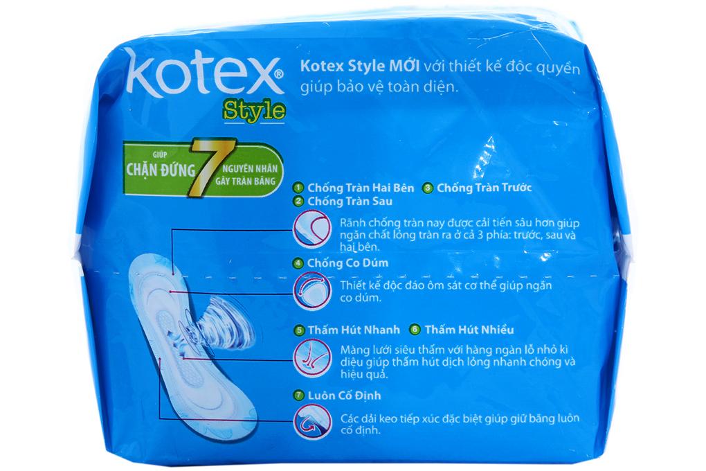 BVS Kotex Style Maxi không cánh 8 miếng