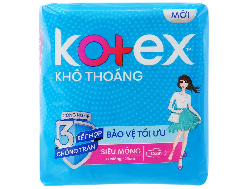 Băng vệ sinh Kotex khô thoáng siêu mỏng cánh 8 miếng 6