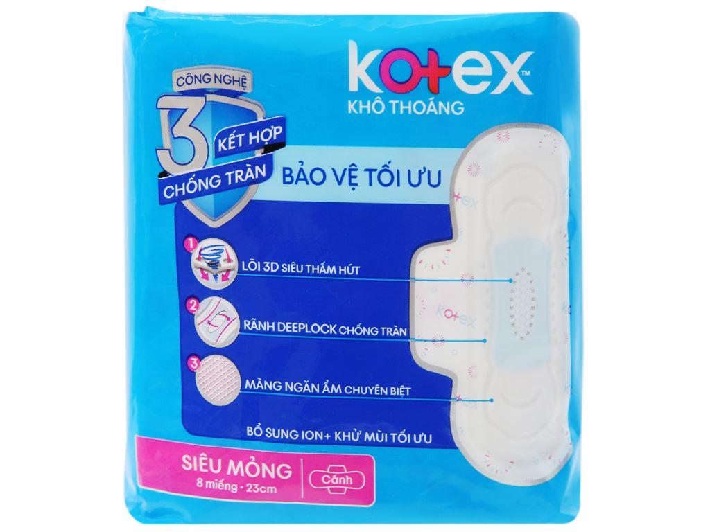 Băng vệ sinh Kotex khô thoáng siêu mỏng cánh 8 miếng 7