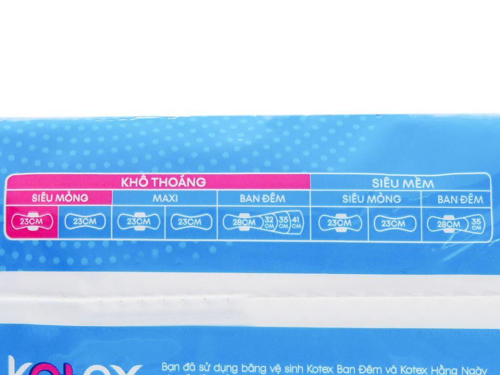 Băng vệ sinh Kotex khô thoáng siêu mỏng cánh 8 miếng 10