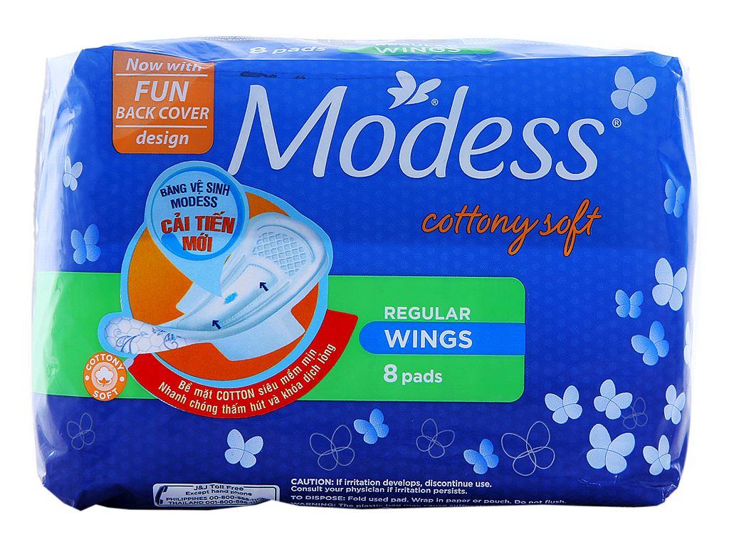 Băng vệ sinh Modess siêu mềm có cánh 8 miếng 1