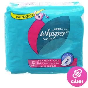 Băng vệ sinh Whisper siêu bảo vệ có cánh 10 miếng