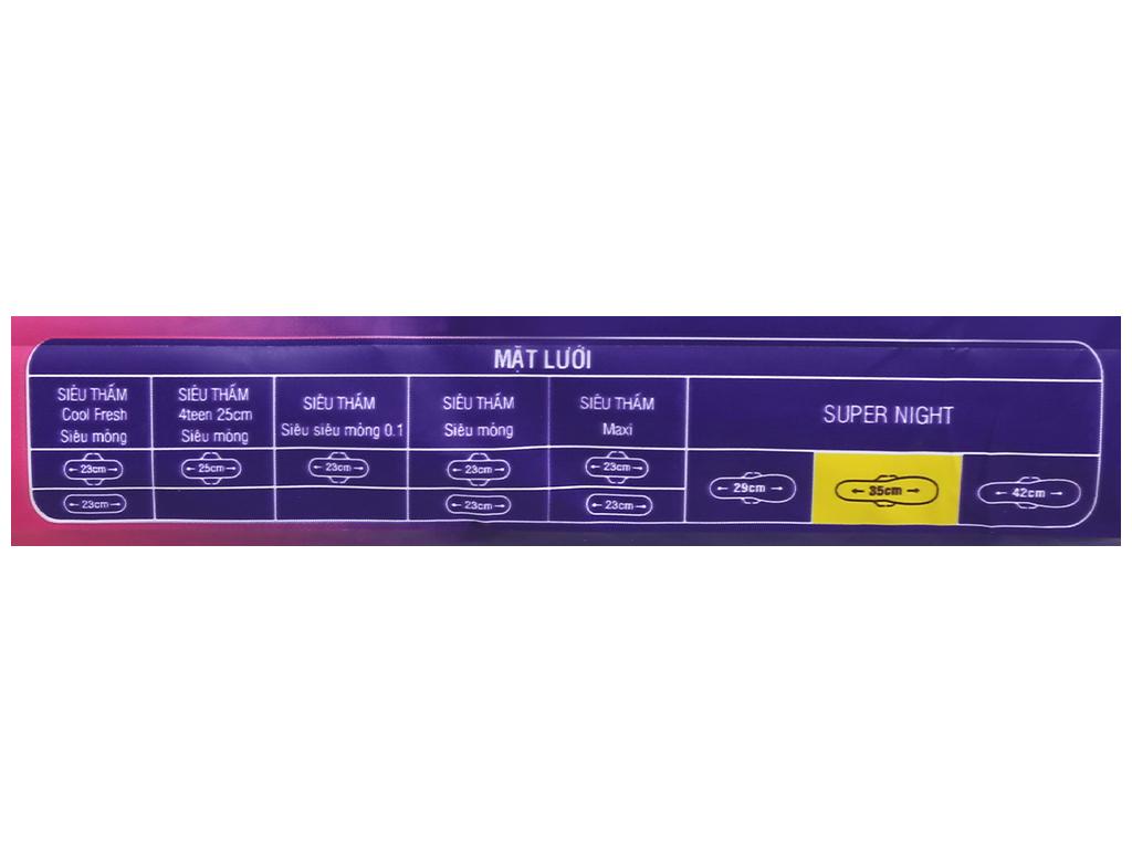 Băng vệ sinh ban đêm Diana Super Night chống tràn 3 miếng 35cm 11