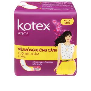 Băng vệ sinh Kotex Pro siêu mỏng không cánh 8 miếng